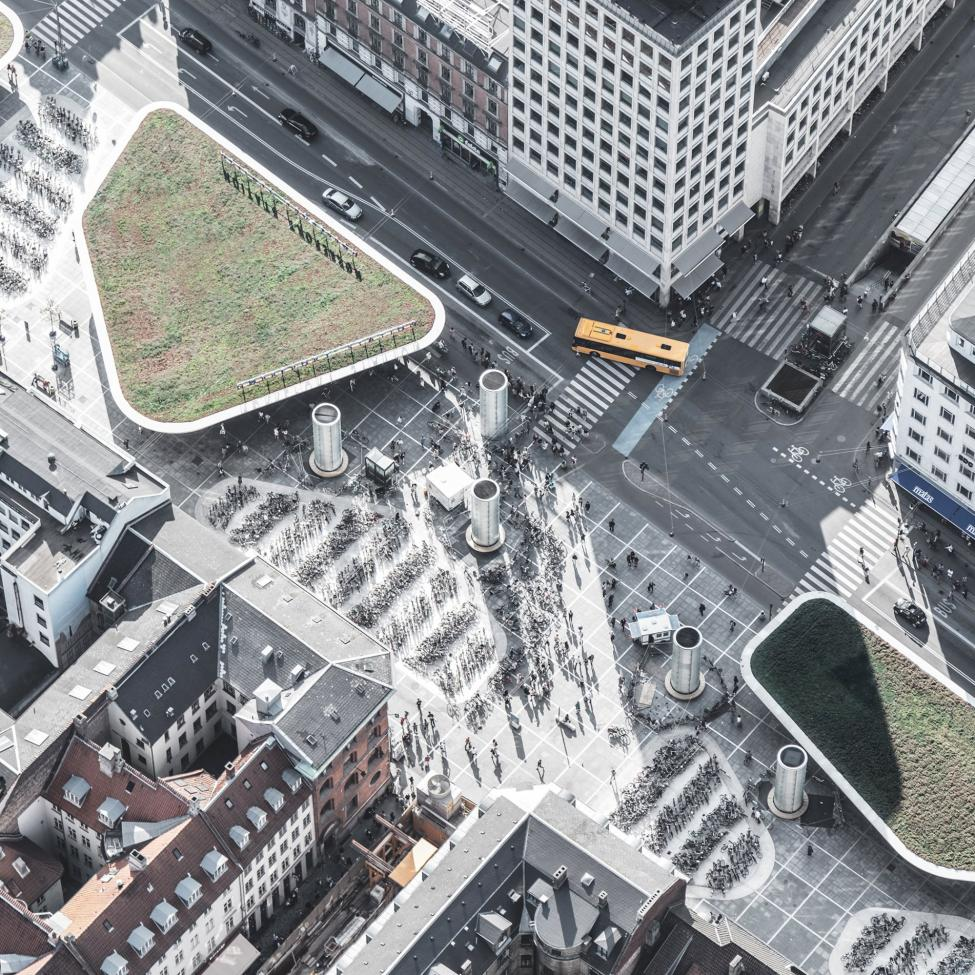 luftfoto ny nørreport stationsplads