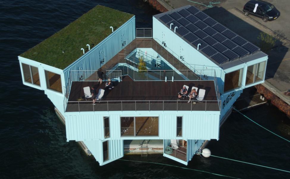 bjarke ingels group container husbåd