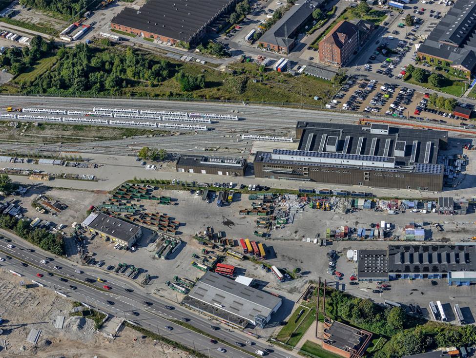 Otto Busses Vej metrobyggeplads luftfoto