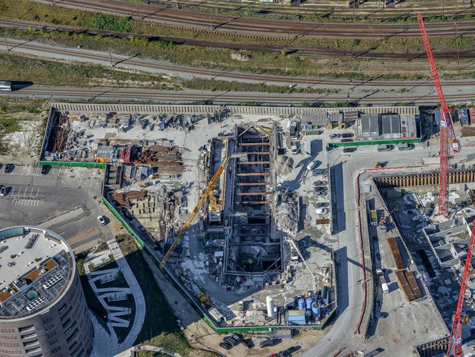 havneholmen metrobyggeplads luftfoto