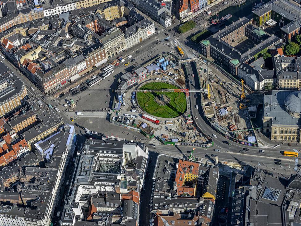 kgs nytorv metrobyggeplads luftfoto