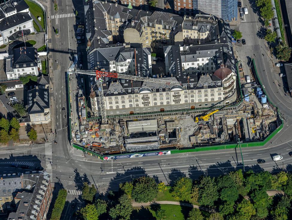 østerport metrobyggeplads luftfoto