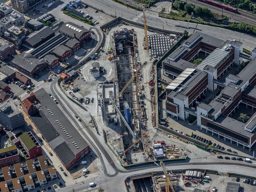 nordhavn metrobyggeplads luftfoto