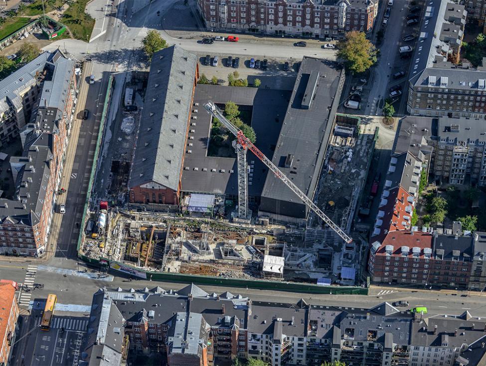 nuuks plads metrobyggeplads luftfoto