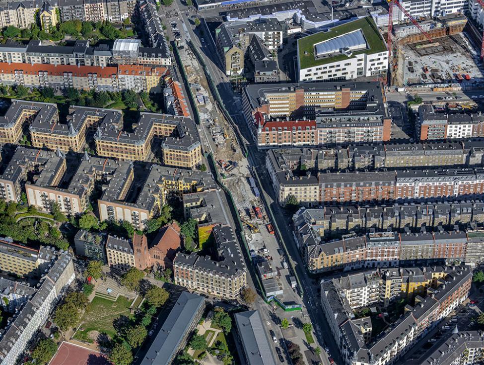 Sønder Boulevard metrobyggeplads luftfoto