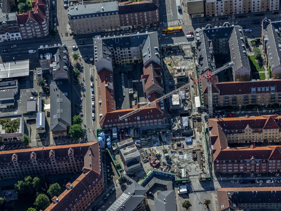 skjolds plads metrobyggeplads luftfoto