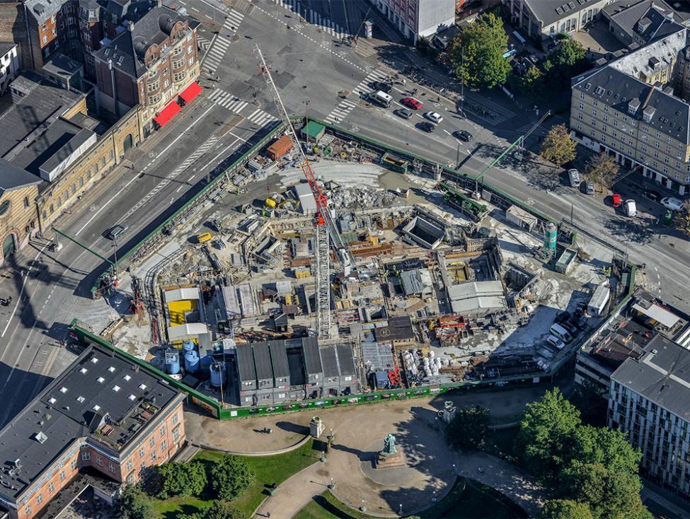 trianglen metrobyggeplads luftfoto