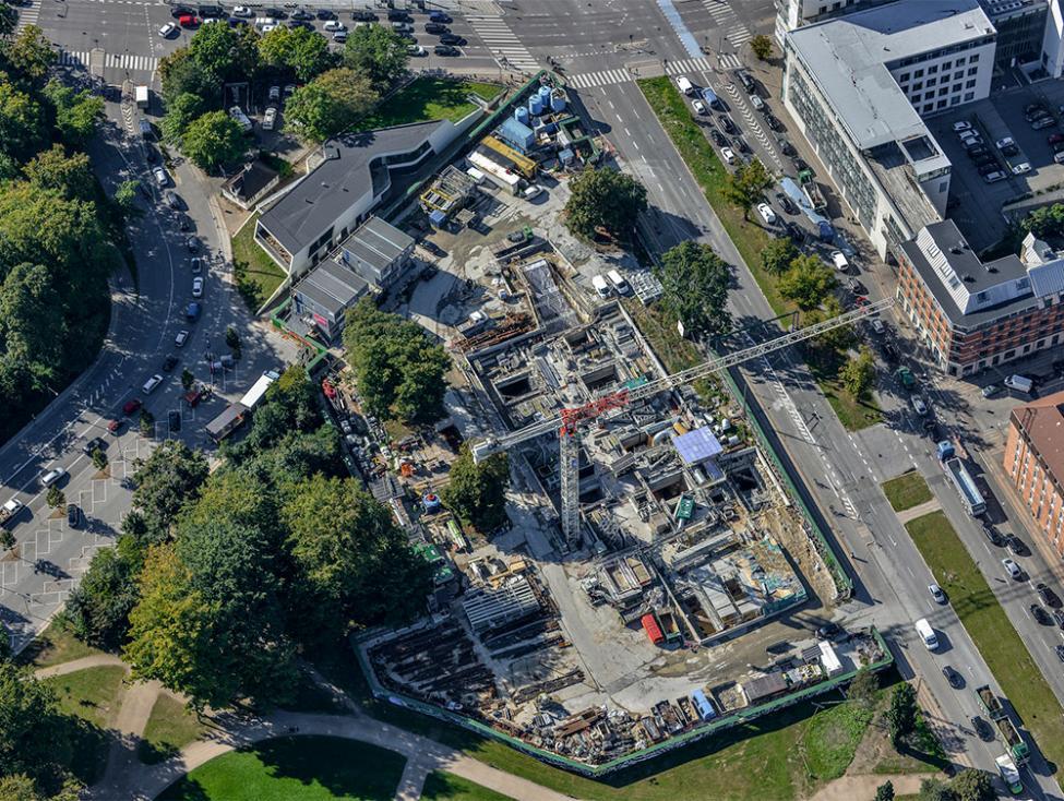Vibenshus Runddel metrobyggeplads luftfoto