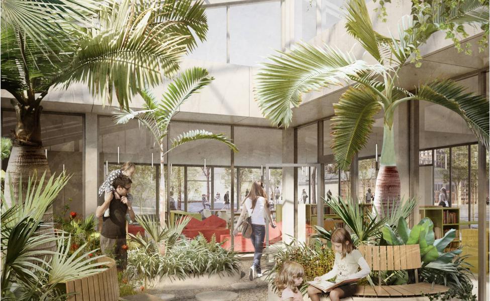 solvang bibliotek tredje natur jaja architects