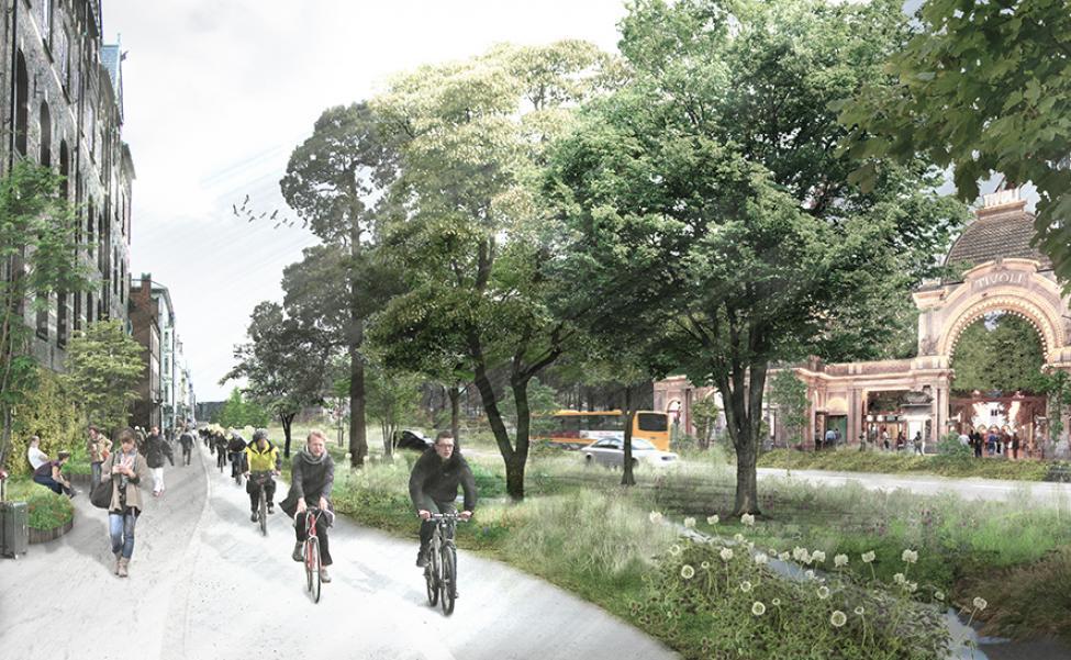 h.c. andersens boulevard begrønnet