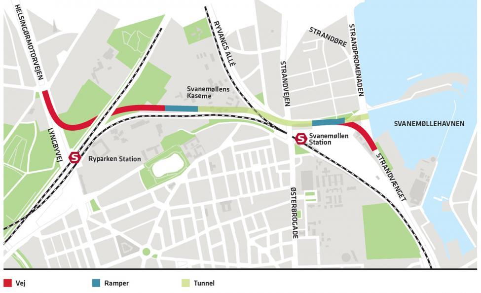 oversigtskort nordhavnsvej