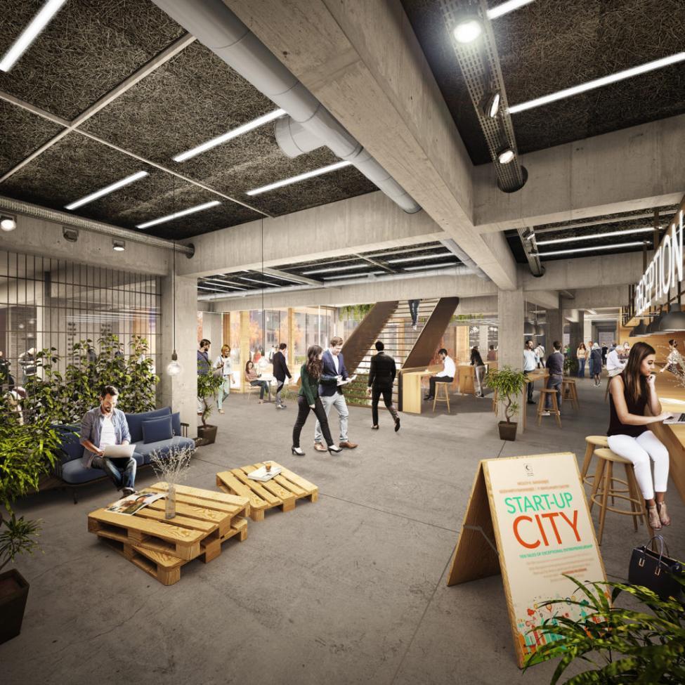 start-up city ankomstområde