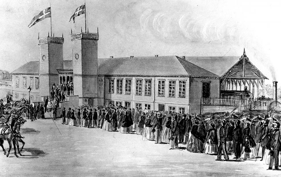 Københavns første banegård 1851