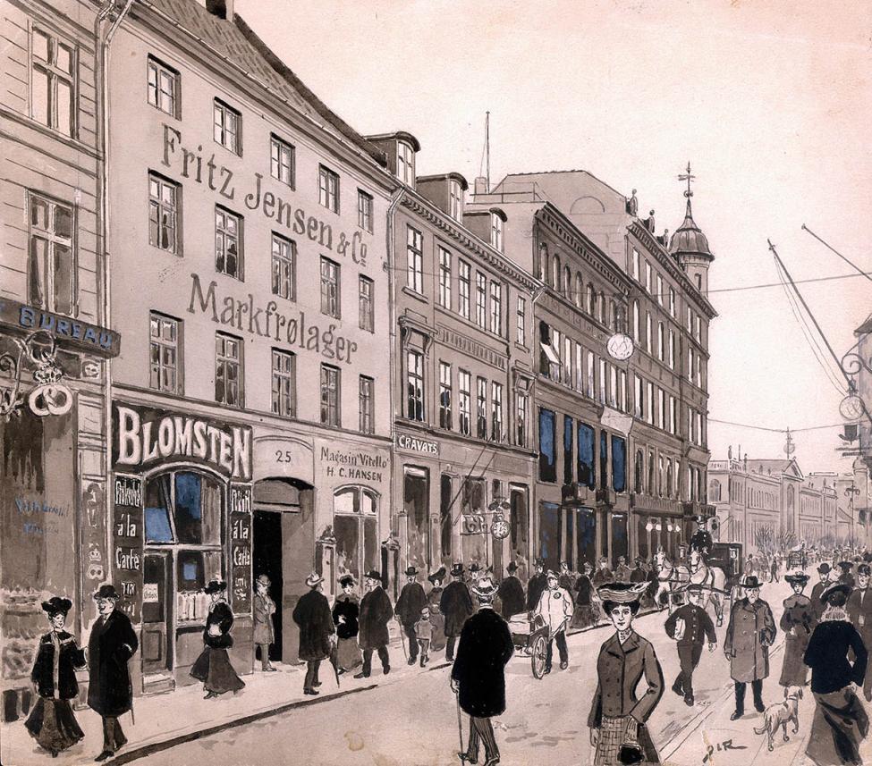 Frederiksberggade Strøget 1900