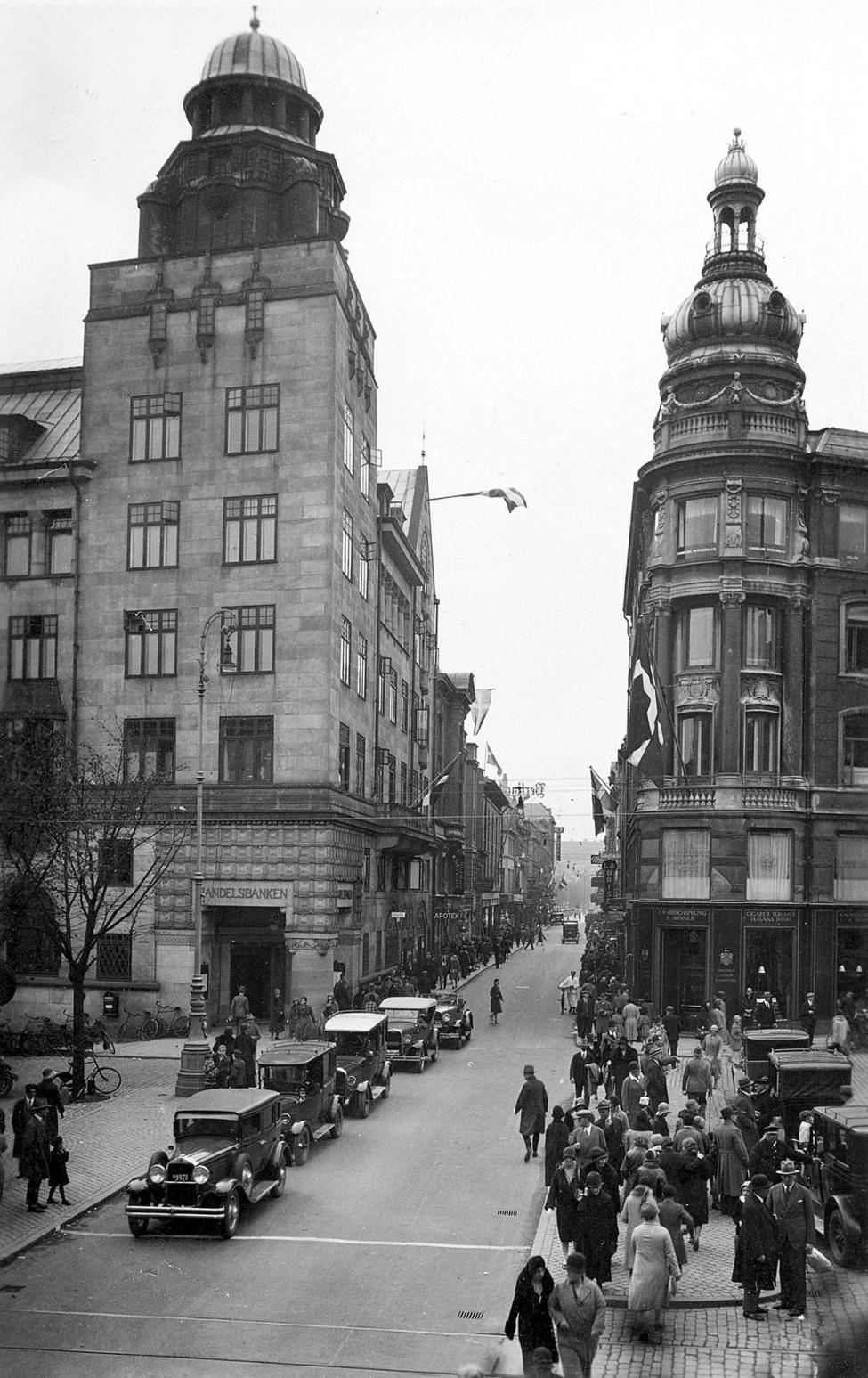 Frederiksberggade Strøget 1930