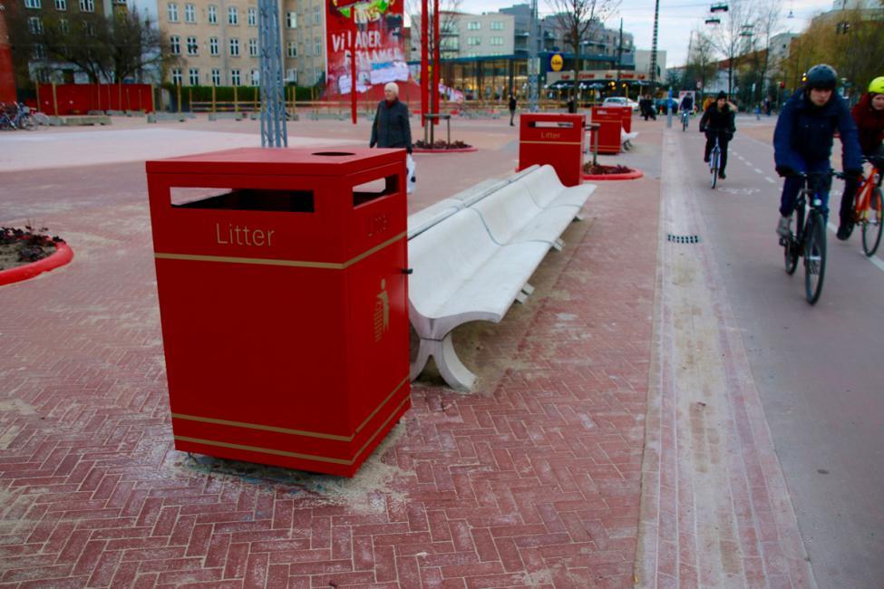 den røde plads cykelsti