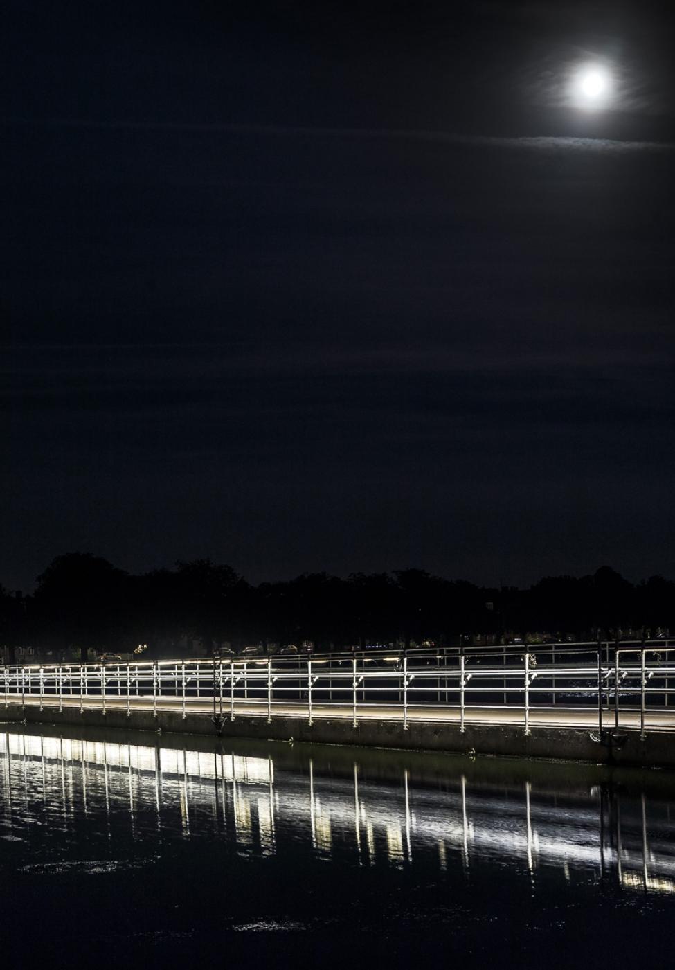 nat på sortedammens flydebro