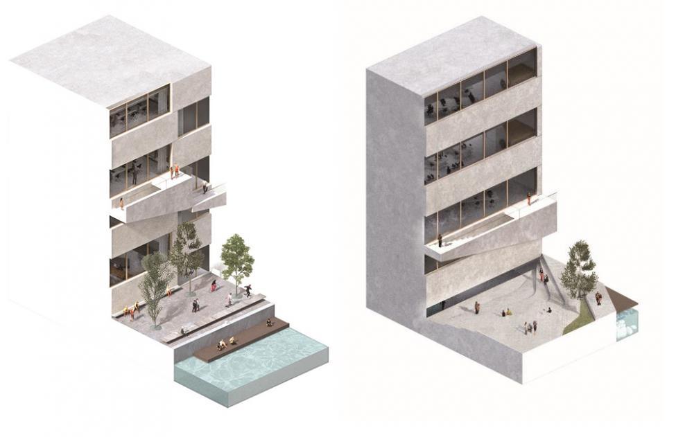 big hovedkvarter facadeudsnitB