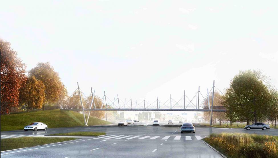 cykelbro holbækmotorvejen