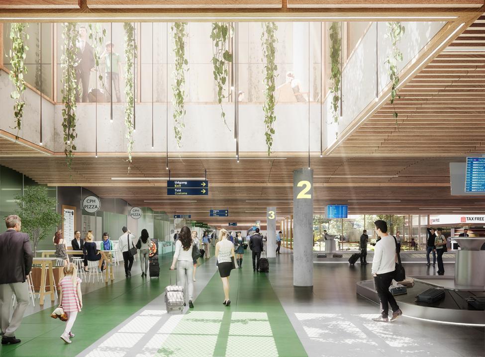 ny terminal baggageområde