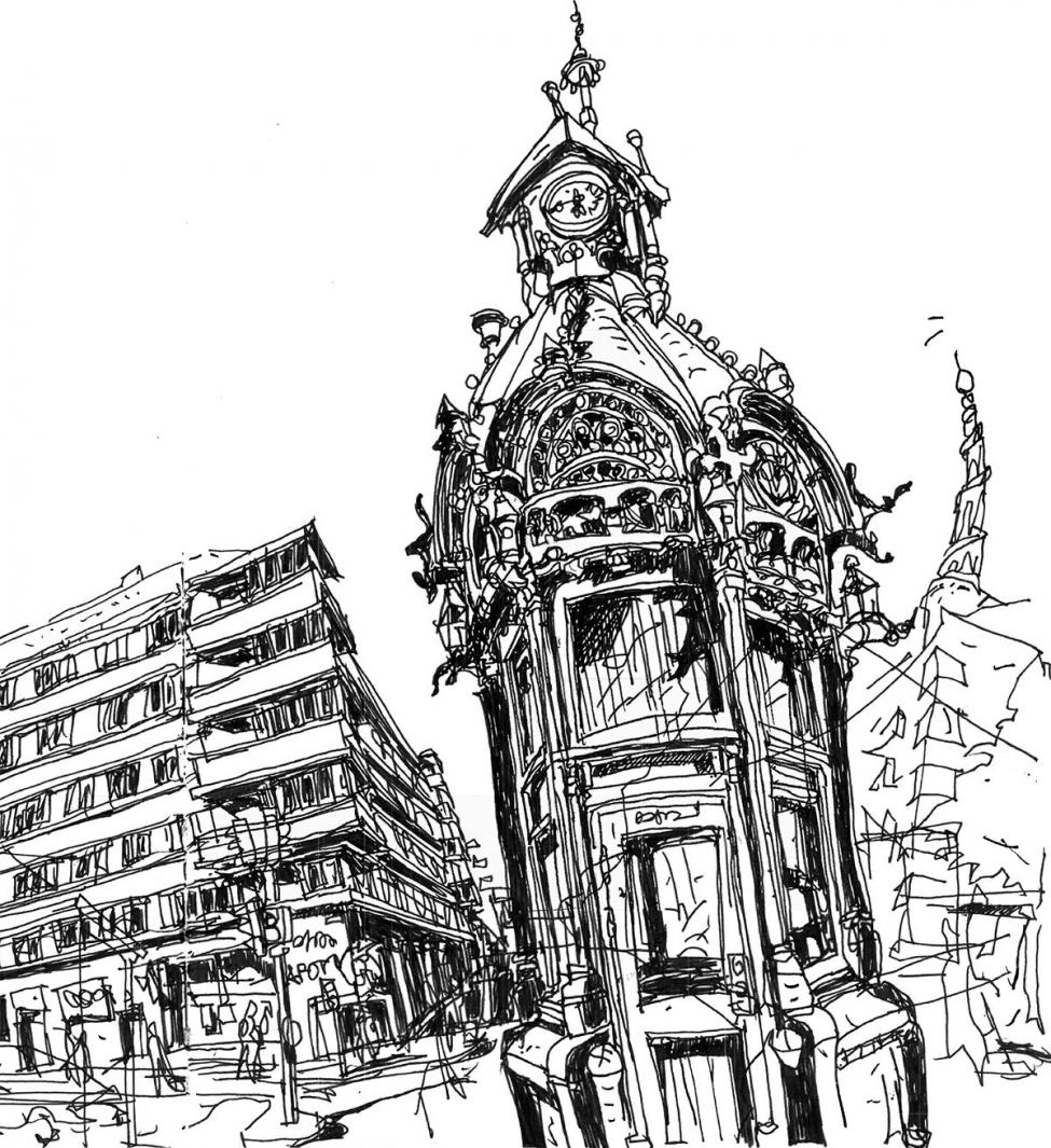 Christianshavns Torv — tegning