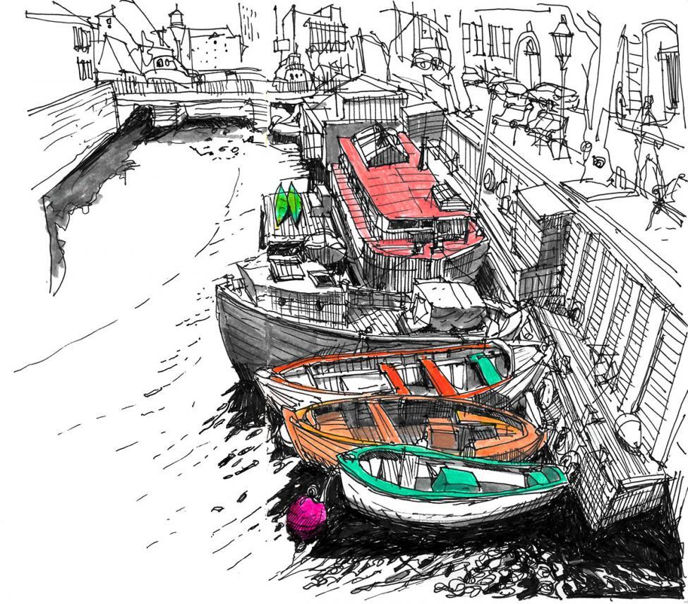 Frederiksholms Kanal tegning