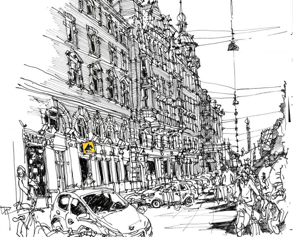 H.C. Andersens Boulevard tegning