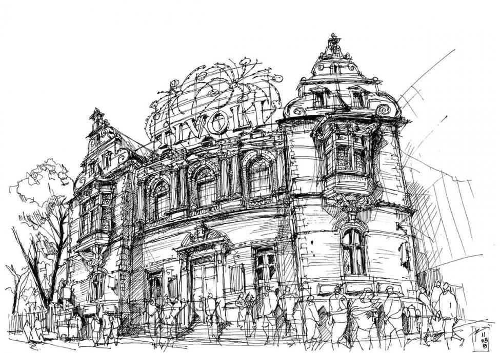 Tivoli Slottet tegning