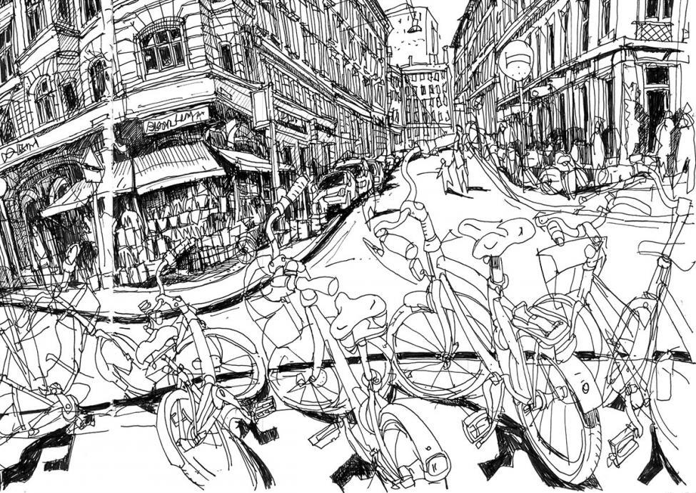 Værnedamsvej tegning