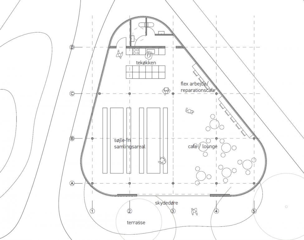 Valby Have Forsamlingshus plan