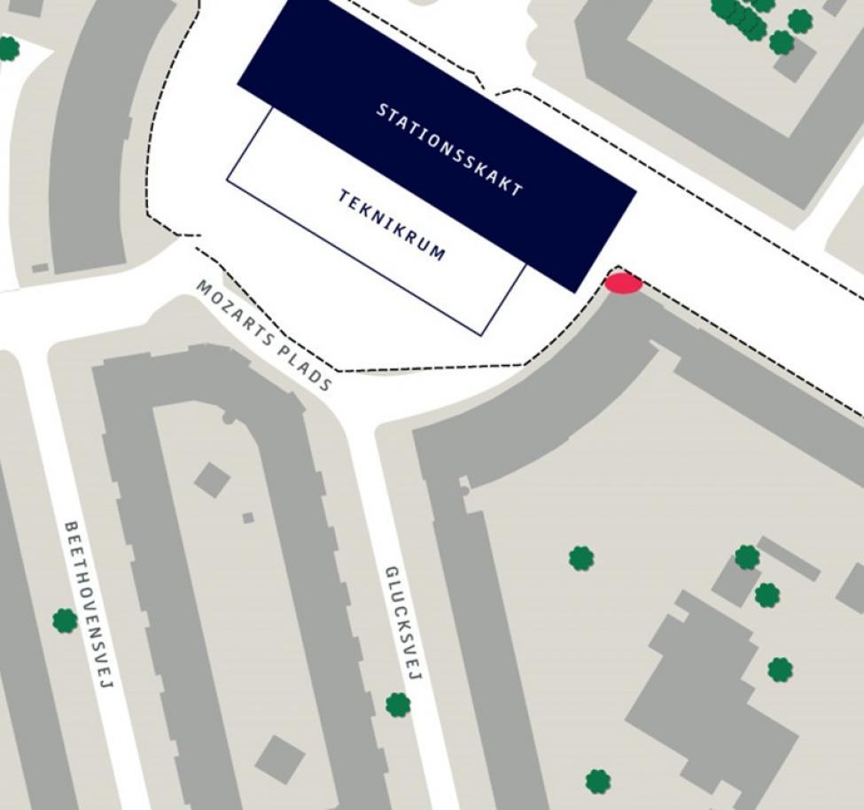Lyskunst Mozarts Plads oversigt