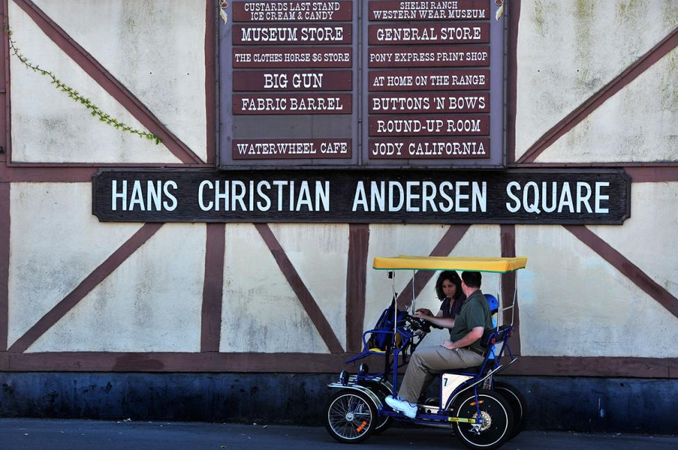 Solvang Hans Christian Andersen square