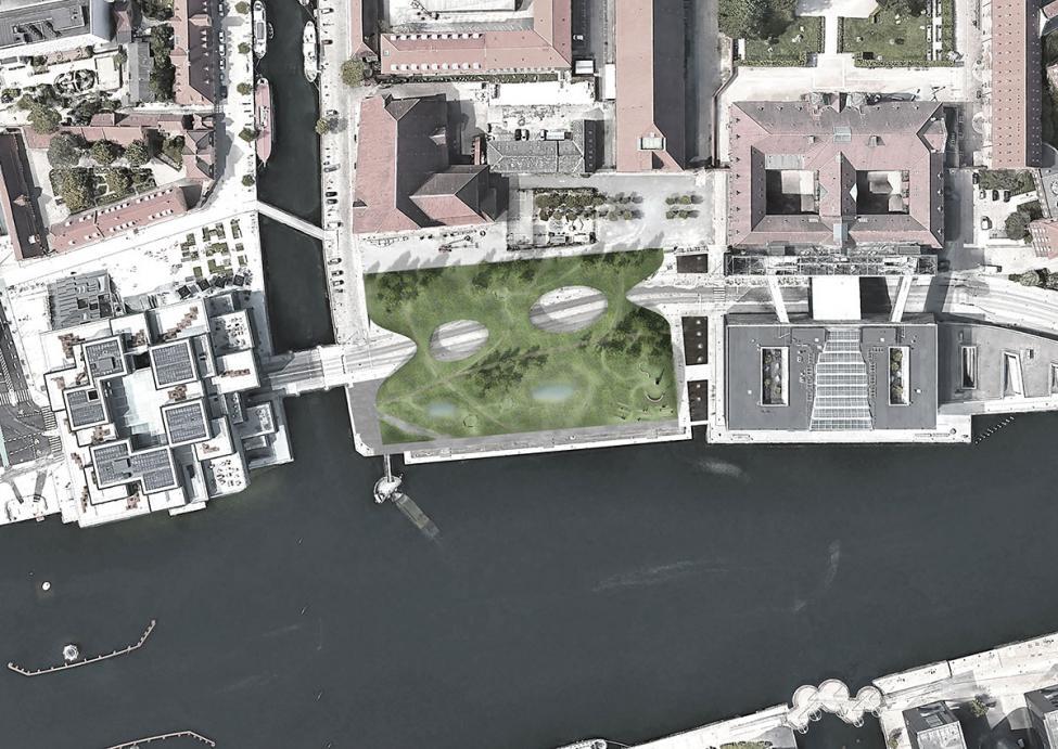 Det Grønne Tæppe Søren Kierkegaards Plads plan