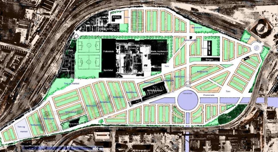 jernbanebyen arkitekturoprøret plan