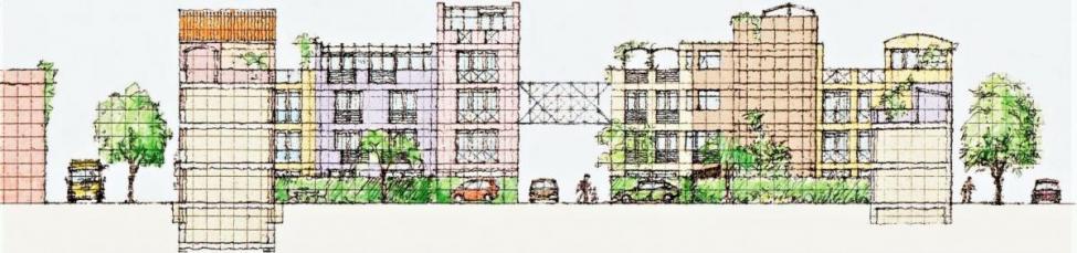 jernbanebyen arkitekturoprøret facader