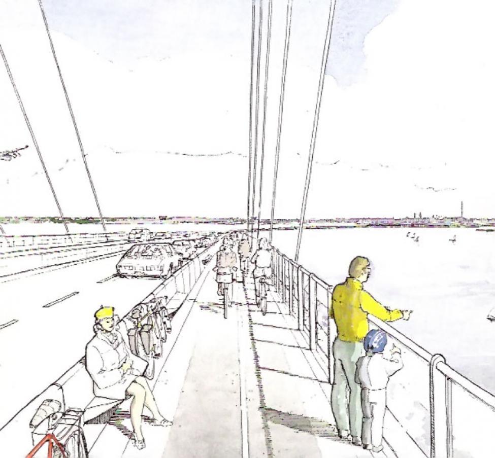 cykelsti øresundsbroen øverste dæk