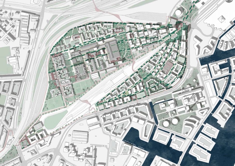 jernbanebyen plan
