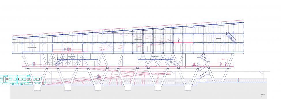 tværsnit nordvestpassagebygning
