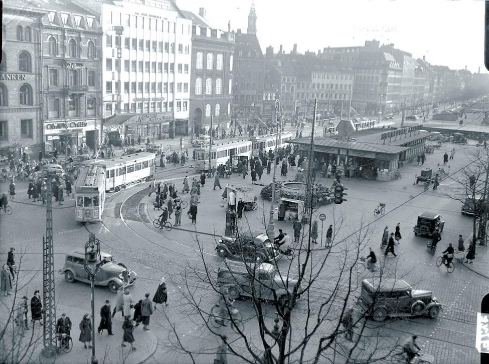 1950 Nørreport sporvogne