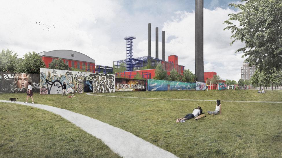 hc ørstedværket graffitimur
