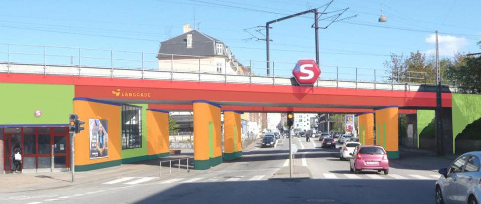 langgade station farvelagt