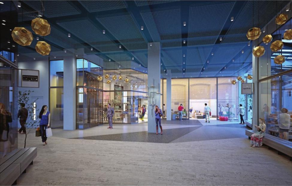 amager centret udvidelse interiør