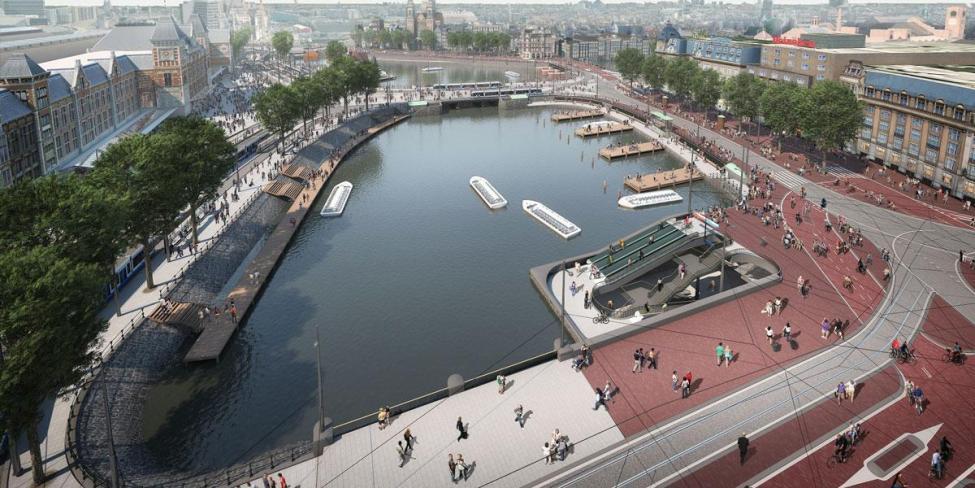 Amsterdam cykelparkering under jorden