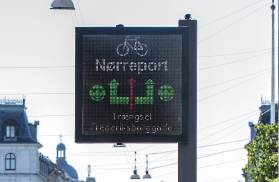 cykel informationstavle closeup