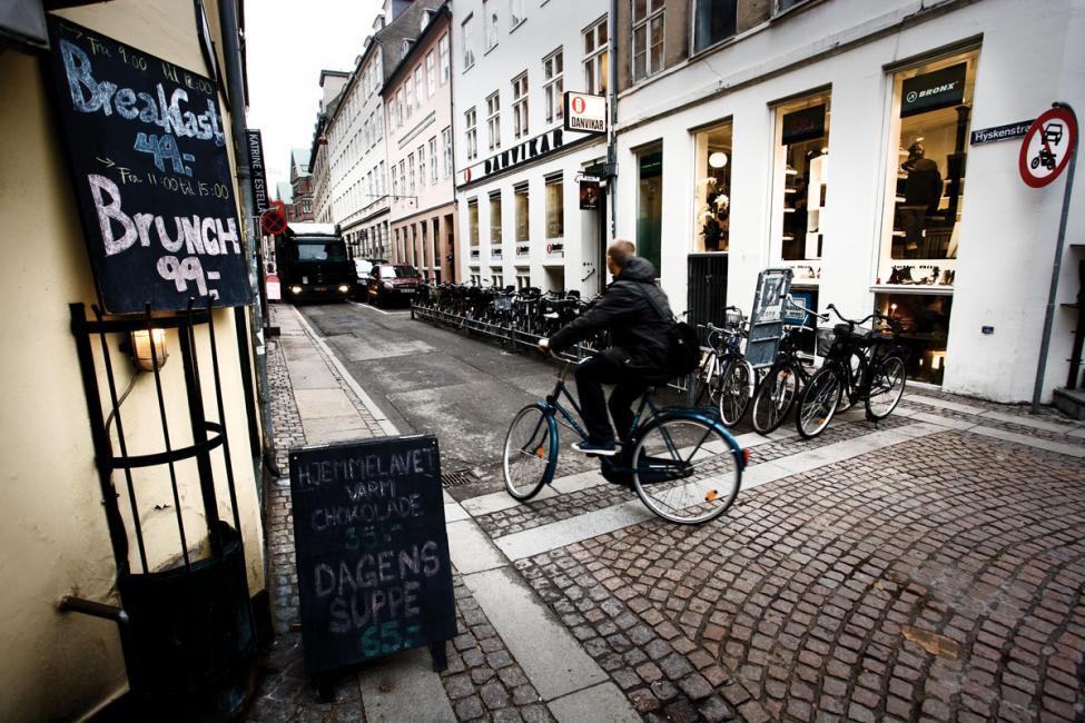 Hyskenstræde tung trafik i København