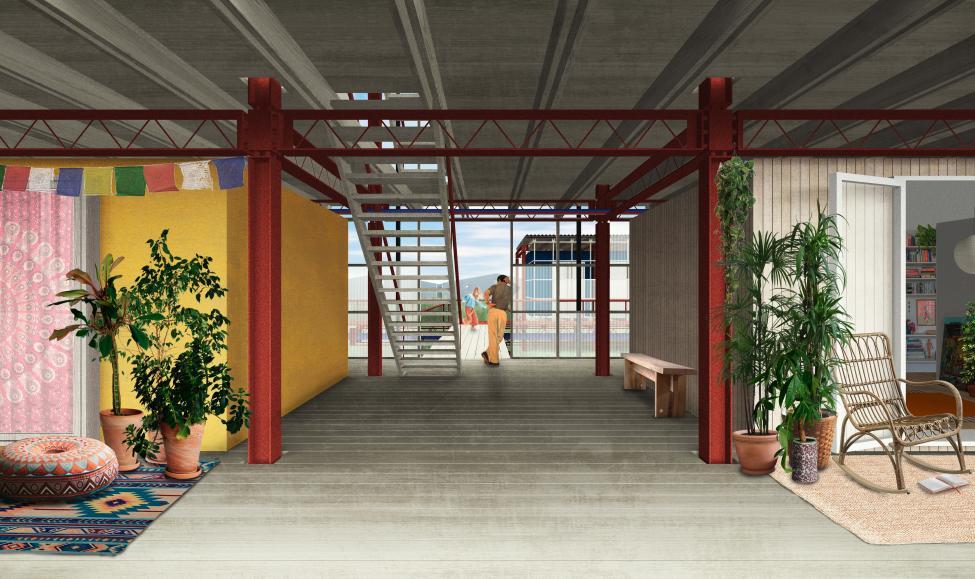 refshaleøen platformsby interiør
