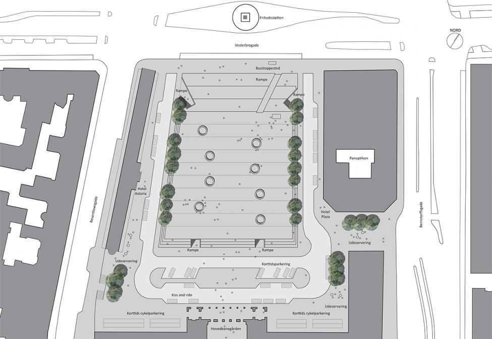 hovedbanen banegårdsplads oversigtskort terræn