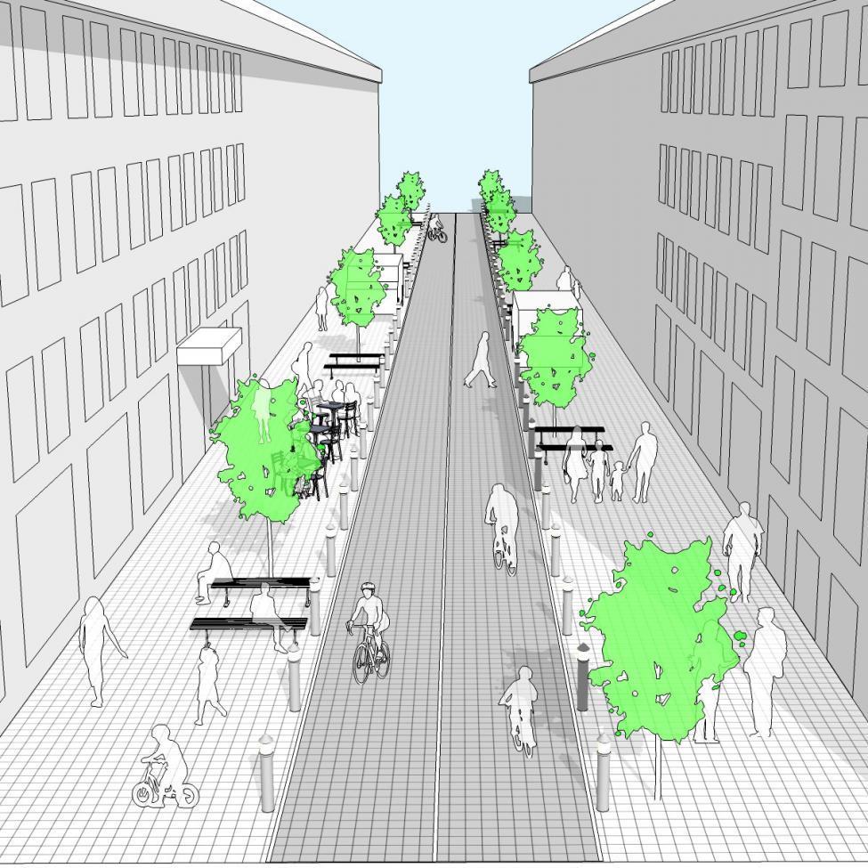Bilfri Løngangstræde 3D model