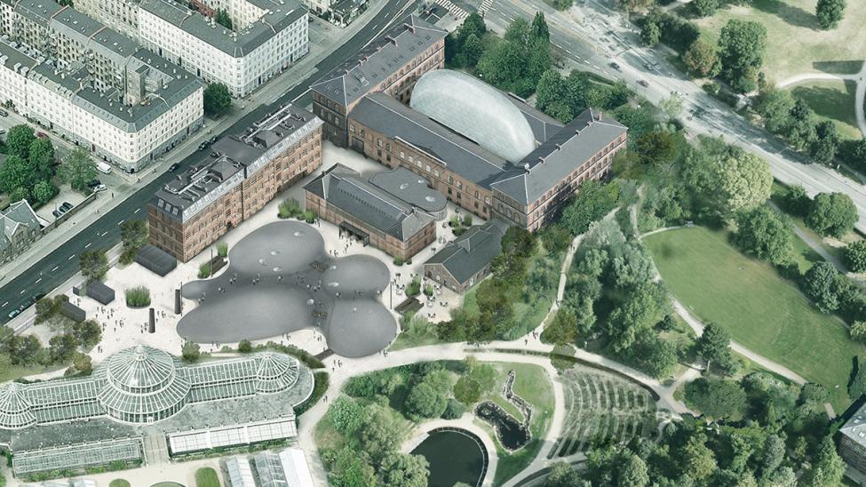 statens naturhistoriske museum fra luften