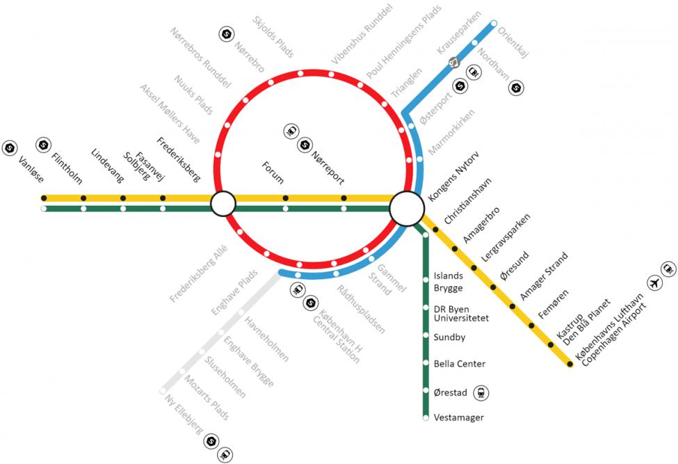 Kort Metro København